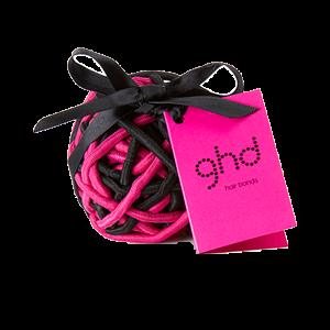 GHD Electric Pink Hair Band Ball plaukų gumytės, 30vnt.