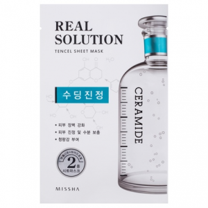 MISSHA Real Solution Tencel Soothing raminanti kaukė, 25g
