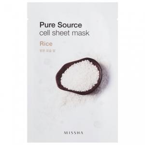 MISSHA Pure Source Cell Sheet kaukė su ryžiais, 21g