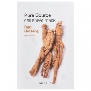 MISSHA Pure Source Cell Sheet kaukė su raudonuoju ženšeniu, 21g