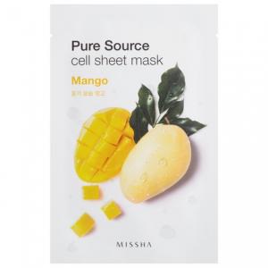 MISSHA Pure Source Cell Sheet kaukė su mangais , 21g