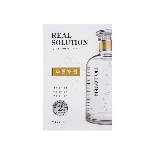 MISSHA Real Solution Tencel Wrinkle Caring kaukė nuo raukšlių, 25g