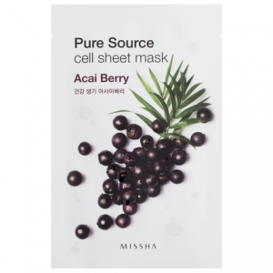 MISSHA Pure Source Cell Sheet kaukė su acai uogomis, 21g