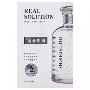 MISSHA Real Solution Tencel Pure Whitening balinanti kaukė, 25g