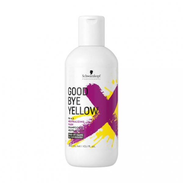 Schwarzkopf Professional Goodbye Yellow šampūnas neutralizacijai 300ml