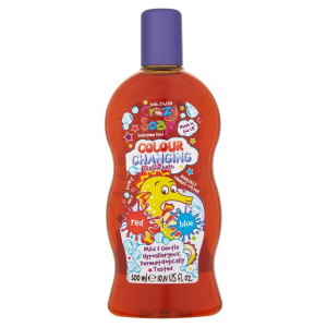 Crazy Kids Stuff spalvą keičiantis vonios skystis Red,300 ml