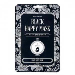KOCOSTAR Black Happy Mask veido kaukė