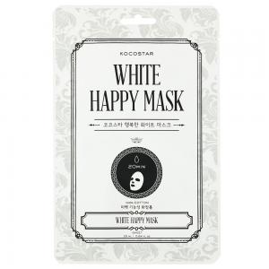 KOCOSTAR White Happy Mask veido kaukė, 1 vnt.