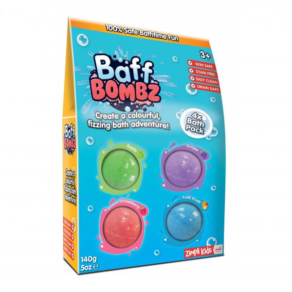 Zimpli Kids CRACKLE BAFF 6 skirtingų spalvų rinkinys,  60g