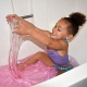 Zimpli Kids Glitter Gelli Play milteliai žaidimams dubenyje violetiniai, 50g