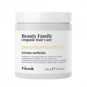 NOOK pompelmo rosa & kiwi drėkinantis šampūnas banguotiems plaukams, 300ml