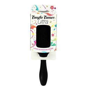 DENMAN D90L Tangle Tamer Ultra Black plaukų šepetys