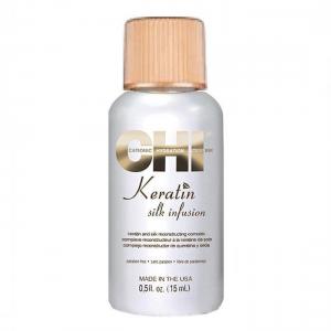 CHI Silk Infusion keratino ir šilko kompleksas plaukams, 15ml